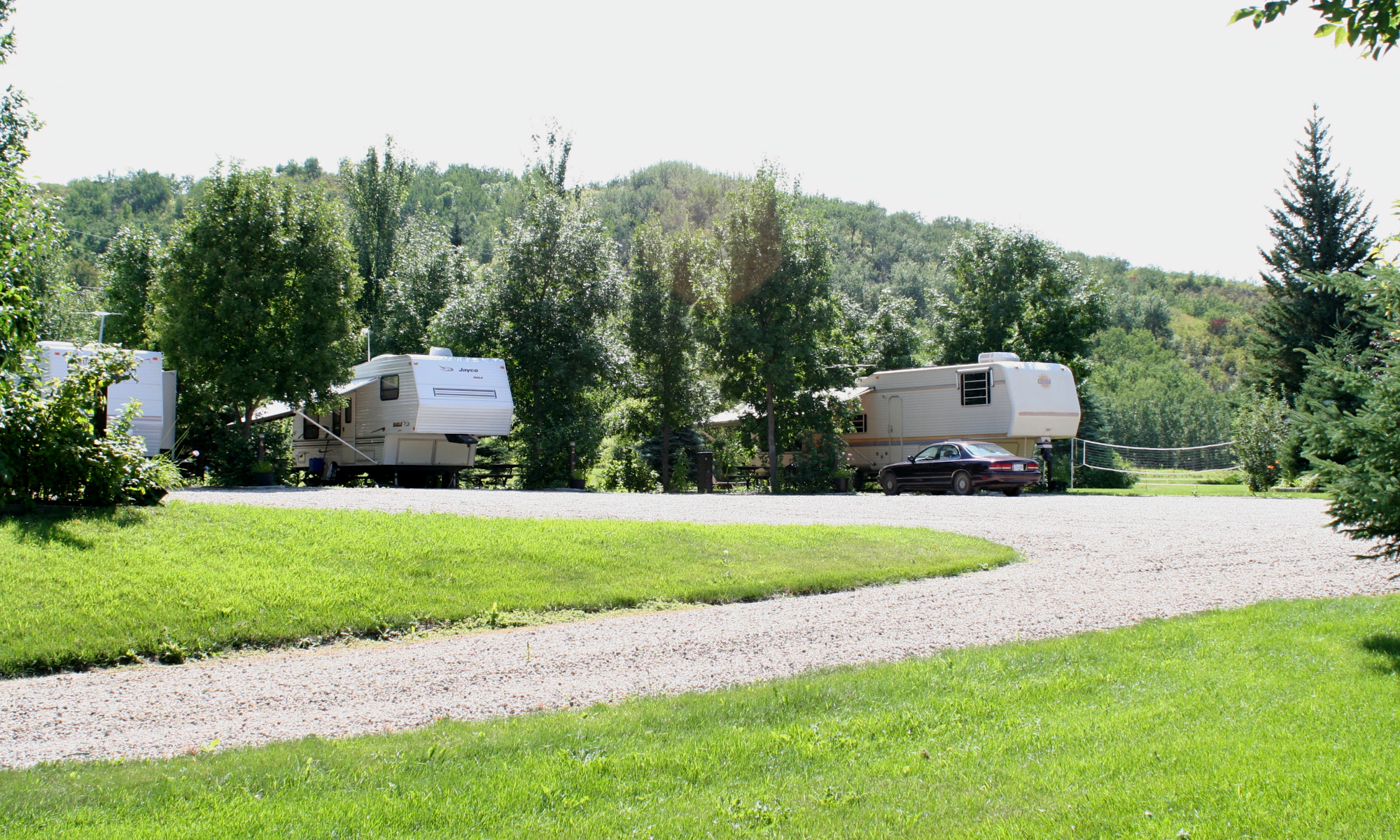 RV Park view with hills