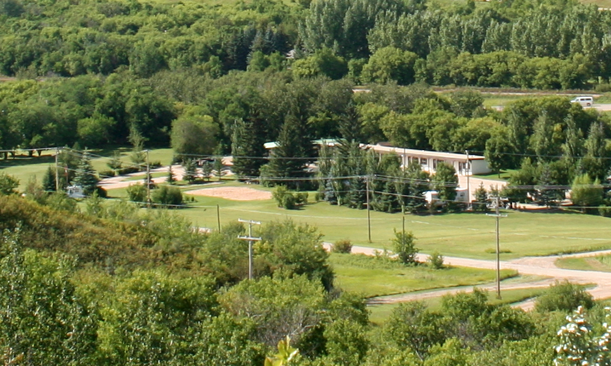 BraeBurn Inn from a nearby hill
