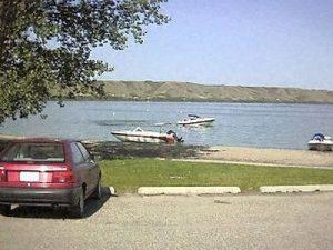 Boats on Echo Lake